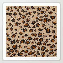 Pixelated Leopard Art Print