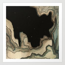 Space Land Art Print