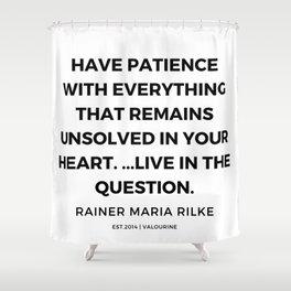 10   | 191113 | Rainer Maria Rilke Quotes Shower Curtain