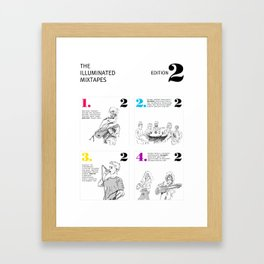 The Illuminated Mixtapes, Edition 2 Framed Art Print