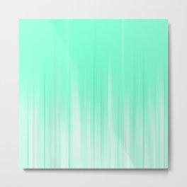 Mint Blue Abstract lights Metal Print