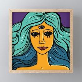 She Woke Framed Mini Art Print