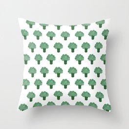 Pattern Green Broccoli  Throw Pillow