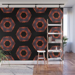 Fiery Red & Orange Circles Wall Mural