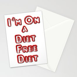 I'm On A Diet Free Diet Stationery Cards
