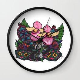 Capricious Beauty (Botanical Bliss) Wall Clock