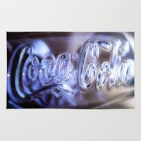 coca cola Area & Throw Rugs featuring Coca Cola Glass by Brian Raggatt