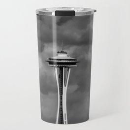 Seattle Skyline - B & W Travel Mug