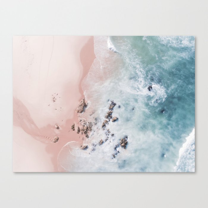 Sea Bliss - Aerial Beach photography by Ingrid Beddoes Canvas Print