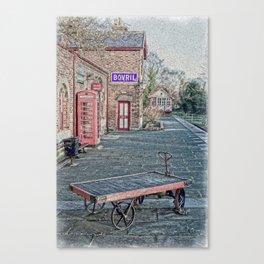 Hadlow Road Scene in Oils Canvas Print