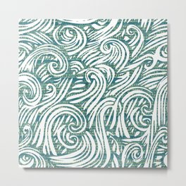 Music waves zen art print Metal Print