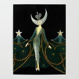 "Art Deco Design ""Queen of the Night"" Poster"