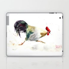 Symbol of 2017 Year, watercolor rooster, cock, cockerel Laptop & iPad Skin
