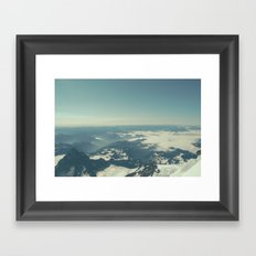 Amidst the Summit - Mt. Rainier Framed Art Print