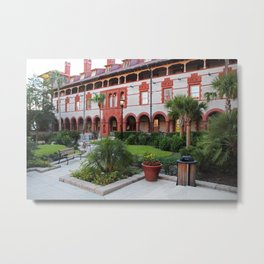 Flagler Courtyard Metal Print