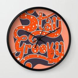 Stay Groovy Wall Clock