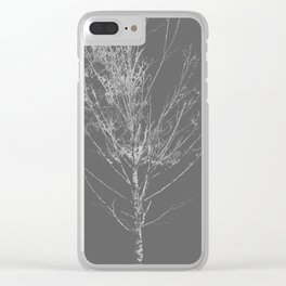 Birch Tree Clear iPhone Case