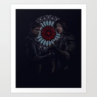 sam winchester Art Prints featuring Dean Winchester and Sam Winchester by Armellin