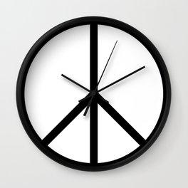CND Peace Symbol Wall Clock