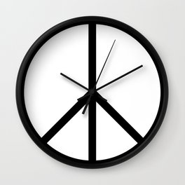 CND Peace Symbol Wall Clock