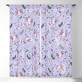 Axolotl Pattern Blackout Curtain