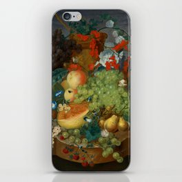 """Jan van Os  """"Fruit still life with a mouse on a ledge"""" iPhone Skin"""
