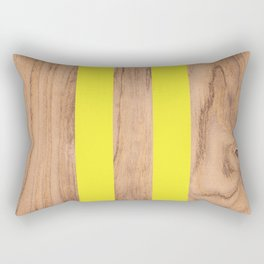 Wood Grain Stripes Yellow #255 Rectangular Pillow