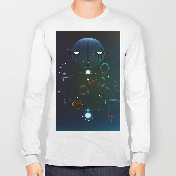 Self Portrait: Raid Boss, Coffee and Constellations Long Sleeve T-shirt