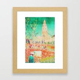 glitchy gardens Framed Art Print