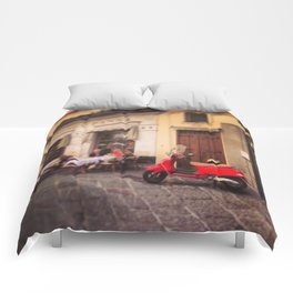 Italy-Vintage Vespa Photo Comforters