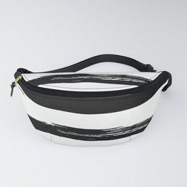 Stylish Black and White Stripes Fanny Pack