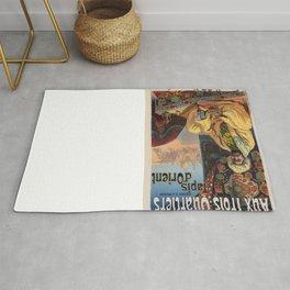 Vintage poster - Aux Trois Quartiers Rug