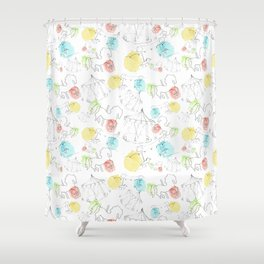 estampado carrusel Shower Curtain