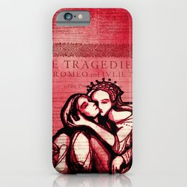 Romeo & Juliet - Shakespeare Folio Illustration Art iPhone Case