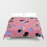 dot Duvet Covers featuring dot dot by cardboardcities