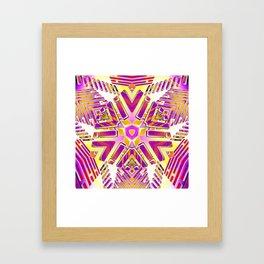 3D Fractal Lightwaves Framed Art Print