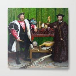 Hans Holbein The Ambassadors Metal Print