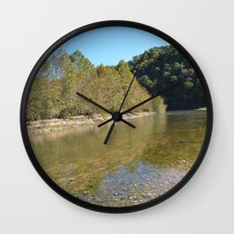 Where Canoes and Raccoons Go Series, No. 16 Wall Clock