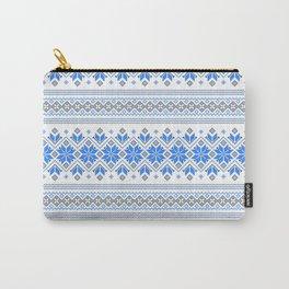 Wellspring - Star Alatyr - Ethno Ukrainian Traditional Pattern - Slavic Symbol 2 Blue Carry-All Pouch