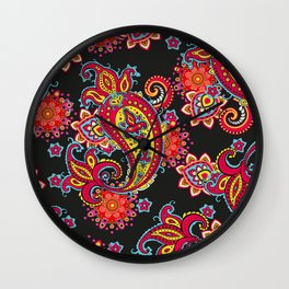 paisley exotique Wall Clock