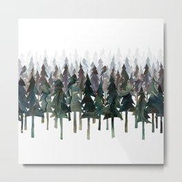 Siberian Forest Metal Print