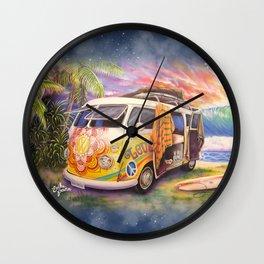 Hippie Surfer Life Wall Clock
