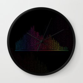 Photography Terms Word Cloud Histogram Wall Clock
