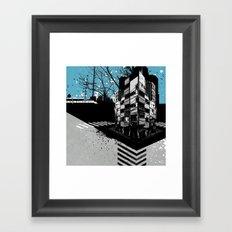 CMYK Triptych - Cyan Framed Art Print