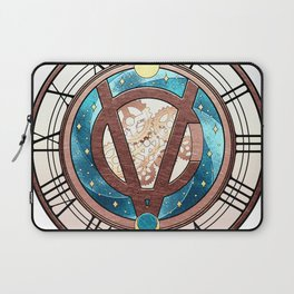 Tick Tock says the Victubia Clock Laptop Sleeve