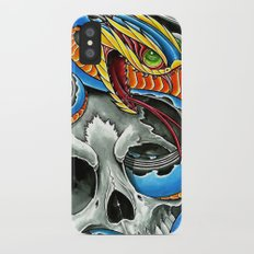 blue viper skull iPhone X Slim Case