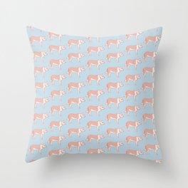 Kawaii Dog with Collar Pattern Throw Pillow