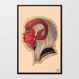 Zahra: The Tiefling Warlock Canvas Print