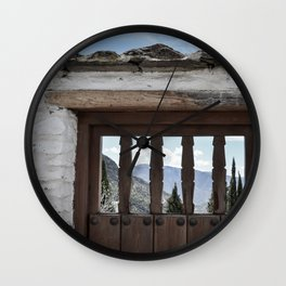 Door to the Mountains (Pueblos Blancos) Wall Clock