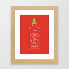 Pass The Yamok Sauce (Clear Bottle Ver) Framed Art Print